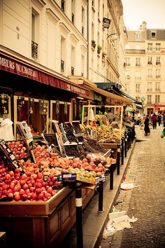 Montmartre by Robby Russell - I want to take pictures of market places in foreign lands <3
