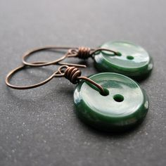 Pretty sure I can make these.   To get:   Matching buttons,   Jewelry wire  Earring hooks.