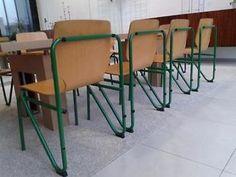 Nog 3: Stoere industriële schoolstoel vintage stoel stoelen