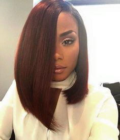 Bob hairstyles are the ones that will suit every texture and every face shape. Get ready to chop off your locks because these Gorgeous Bob Hairstyles for Black Women will tempt you beyond your imagination. Weave Hairstyles, Cute Hairstyles, Straight Hairstyles, Black Hairstyles, Spring Hairstyles, Curly Haircuts, Extension Hairstyles, Beautiful Hairstyles, Bouffant Hairstyles
