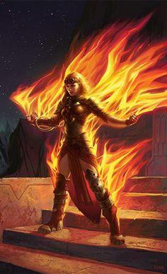Chandra, Roaring Flame - Magic Origins Art
