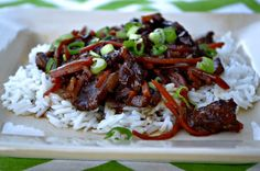 Crockpot Mongolian Beef- This is the BEST mongolian beef I've ever had.  This Crockpot Mongolian Beef is easier than getting takeout! Just throw a few ingredients in the crockpot, and come home to a wonderful asian inspired meal!