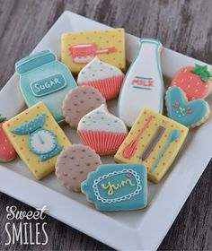 Baking Party - baking cookie collection from Sweet Smiles via Facebook. (Inspiration)