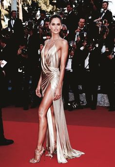 """runwayandbeauty: """" Izabel Goulart in Alexandre Vauthier - """"The Last Face"""" Premiere during the annual Cannes Film Festival on May 2016 in Cannes, France. Red Carpet Dresses, Satin Dresses, Nice Dresses, Izabel Goulart, How To Pose, Celebrity Look, Celebs, Celebrities, Cannes Film Festival"""
