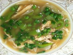 Asian Chicken Soup with Pea Soup