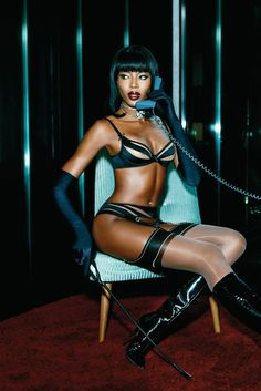 Naomi Campbell in Agent Provocateur's spring '15 campaign. [Courtesy Photo]