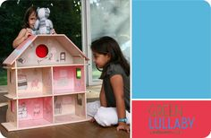 Dollhouse by Green Lullaby Cardboard Dollhouse, Diy Ideas, Craft Ideas, Sustainable Design, Recycled Materials, Dollhouses, Product Design, Children, Kids