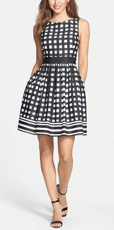 Nordstrom Clothes - Eliza J Print Faille Fit & Flare Dress (Regular & Petite) Fit Flare Dress, Fit And Flare, Pretty Dresses, Beautiful Dresses, Bcbg, Inspiration Mode, Fashion Beauty, Womens Fashion, Looks Style