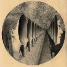 Beautiful Surrealism Art by Miles Johnston Miles Johnston, Surreal Artwork, Surreal Portraits, Grunge Art, Colossal Art, Surrealism Painting, Psychedelic Art, Community Art, Art Sketchbook