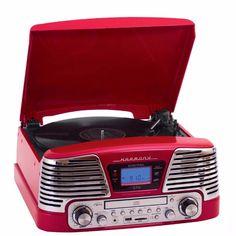 Toca-Discos CTX Harmony com CD Player e USB/SD Record