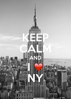 Keep Calm And I Love New York / created with Keep Calm and Carry On for iOS #keepcalm #ILoveNY