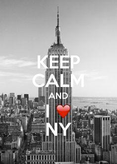 Keep Calm And I Love New York / created with Keep Calm and Carry On for iOS #keepcalm #ILoveNY