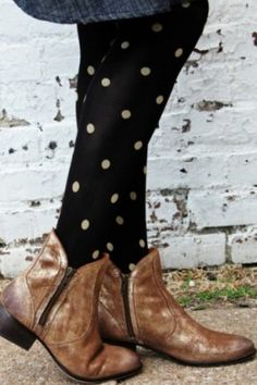 Love this! I'd probably wear combat boots, but the tights are super cute!