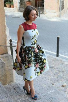 Lavrishina blog Carolina Herrera Floral Jacquard Dress Lena Wedding in Majorca