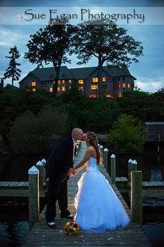 bellhurst castle wedding couple lake geneva ny sunset