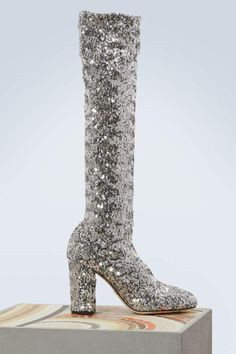 Buy DOLCE & GABBANA Sequined boots online on 24 Sèvres. Shop the latest trends - Express delivery & free returns Sparkly High Heels, Fashion Tips For Women, Contemporary Fashion, Designer Shoes, Boots, Guitar, Footwear, Luxury, Sexy