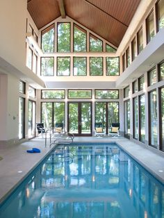 Indoor #pool with tons of natural light and windows. Looks like a great one to use during the winter :)