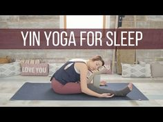 Yin Yoga for Sleep - Yin Yoga Bedtime & Stress Reduction Class {47 min} - YouTube