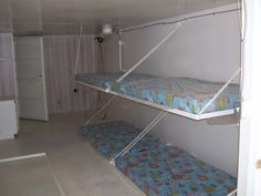 Beds in storm shelter