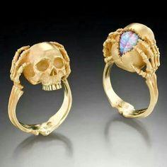 Rock proposal? Skull engagement ring