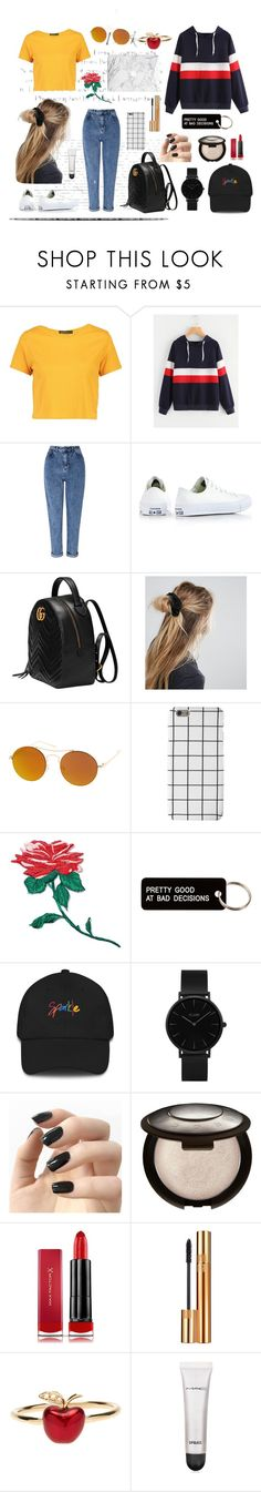 """3"" by amberkemp440 on Polyvore featuring Boohoo, Miss Selfridge, Converse, Gucci, ASOS, SW Global, band.do, Various Projects, CLUSE and Incoco"