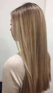 Shadow root and Balayage - Hair&Beauty Dirty Blonde Hair With Highlights, Blonde Hair Looks, Balayage Hair Blonde, Brown Blonde Hair, Hair Highlights, Blonde Straight Hair, Dark Blonde Hair Color, Balayage Straight, Thin Hair