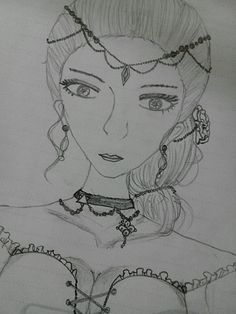 I try to drawing a gothic girl. Hahahaha.. sorry if is look bad. I must learn more