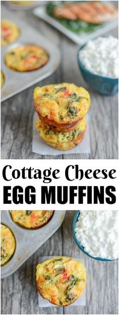 These CottageCheese Egg Muffins are a high-protein breakfast option that can be prepped ahead of time and eaten on the run! They're a fun change from traditional egg cups!