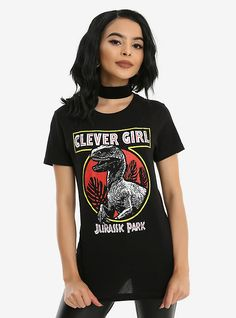 Jurassic Park Clever Girl Girls T-Shirt, BLACK