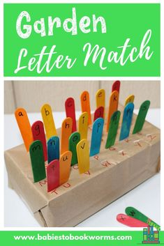 garden kids Practice matching upper and lower case letters with this fun garden letter matching game! Alphabet Activities, Preschool Activities, Play Based Learning, Fun Learning, Teaching Kids, Letter Matching Game, Teaching Letter Recognition, Spring Activities, Toddler Activities
