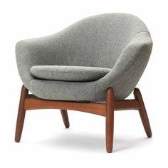 Ib Kofod-Larsen; Teak Lounge Chair, 1950s.: