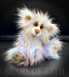 Pink Quill a Capability Bear Royal Blue And Gold, Foot Pads, Quilling, How To Introduce Yourself, Sculpting, Pattern Design, Bears, Owl, Teddy Bear