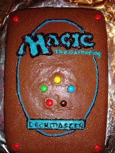Magic The Gathering Card Cake more at Recipins.com