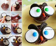 Baby Owl Cupcakes