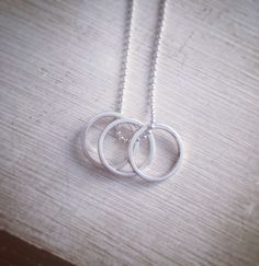 Triple eternity necklace  http://bit.ly/1l0Wio1