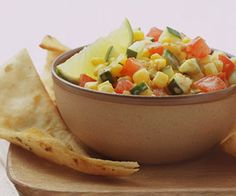 Serve this fresh and crunchy salsa with chips or on top of grilled meats, chicken, or fish.