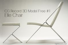 CG Record 3D Model Free #1: Elle Chair