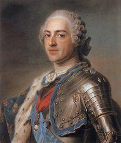 Marie Antoinette's Playhouse:A portrait of Louis XV by Maurice Quentin de la…