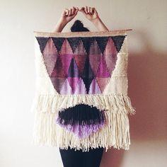 Woven wall hangings by Maryanne Moodie — Tanis Fiber Arts Weaving Textiles, Weaving Art, Loom Weaving, Tapestry Weaving, Wall Tapestry, Design Textile, Textile Art, Tanis Fiber Arts, Do It Yourself Baby