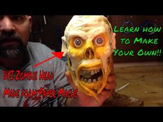 Paper mache skull turned to a zombie head DIY Zombie head: Unhinged Productions Paper mache skull turned to a zombie head DIY Zombie head…