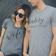 Our Wifey Tee and Hubby Tee, the perfect combo. #swooning {Tees Link in Bio} ( @jessakaephoto) ❤️