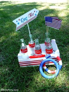 Ring toss game at a red, white and blue, stars & stripes 4th of July party! See more party planning ideas at CatchMyParty.com! 4th Of July Games, Fourth Of July Food, 4th Of July Fireworks, 4th Of July Party, July 4th, Coca Cola, 4th Of July Photography, Garden Picnic, Photos Booth