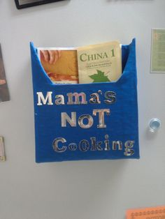 Magnetic Menu Holder - Coupon Holder - Mama's Not Cooking