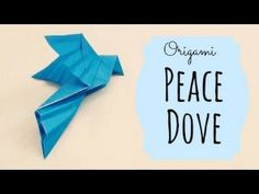 Peace Dove Origami Instructions (Traditional origami) - Uploaded on May 25, 2011 Support the origami channel for more cool creations at Patreon: www.patreon.com/tadashimori Facebook: www.facebook.com/tadashiorigami  Tutorial teaching a traditional peace dove origami. Video by: Tadashi Mori  http://www.facebook.com/TadashiOrigami
