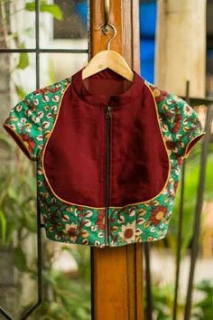 Buy Designer Blouses online, Custom Design Blouses, Ready Made Blouses, Saree Blouse patterns at our online shop House of Blouse from India. Saree Blouse Neck Designs, Fancy Blouse Designs, Blouse Patterns, Kalamkari Blouse Designs, Dress Designs, Kalamkari Blouses, Kalamkari Saree, Silk Blouses, House Of Blouse
