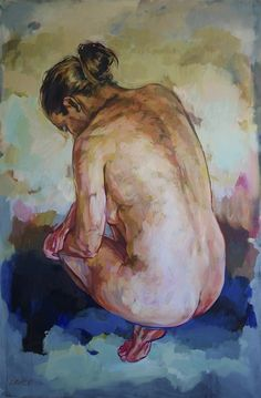 Buy WOMAN CROUCHING, a fine art nude painting by contemporary South African artist Grace Kotze at StateoftheART. South African Artists, African Design, Online Art Gallery, Art For Sale, Female Bodies, Fine Art, Drawing, Artwork, Photography