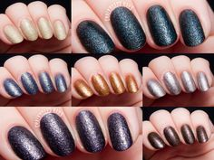 Color Club Seven Deadly Sins Collection Swatches and Review - One of Color Club's newest collections is called Seven Deadly Sins. It's a collection of seven textured nail polishes in indulgent shades. The textures are very low profile (read: not too rough) so if you are a fan of texture but don't like 'em scratchy, these are a great option for you. As for formula on these, they are okay. Maybe a bit on the thicker side, but that's par for the course with most textures.