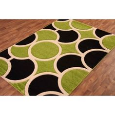 Lime Green Kitchen Rugs Hand Carved Black Modern Rug T140 Hisar Teeth Whitening Pinterest And