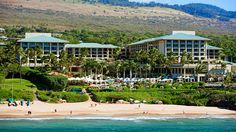 The view of the Four Seasons Resort Maui from the Pacific.
