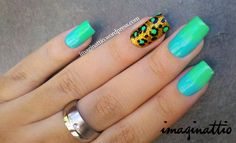 Ombre nails with pattern :)